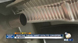 'Selective' thieves target catalytic converters in 4S Ranch