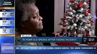 70-year-old speaks after tasing incident