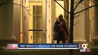 Miami University students test negative for coronavirus