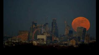 Time lapse mostra super lua azul de sangue sobre Londres