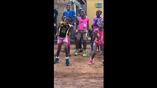 Happy kids show off their awesome dance moves