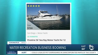 Water recreation business booming