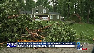 Homes damaged, trees down after tornado sweeps through Howard County