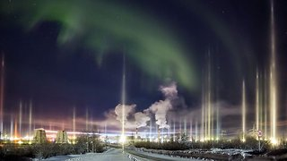 Stunning Images Of Vertical Aurora Caught On Camera