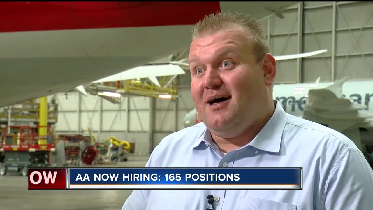 A.A. now hiring 165 more people