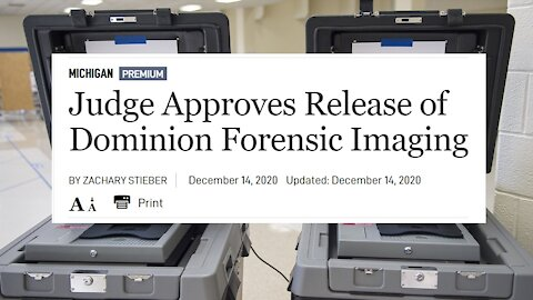 Judge Approves Release of Dominion Forensic Imaging! Massive Failure Rate in Electronic Ballots!