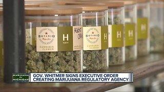 Gov. Whitmer signs executive order establishing Marijuana Regulatory Agency