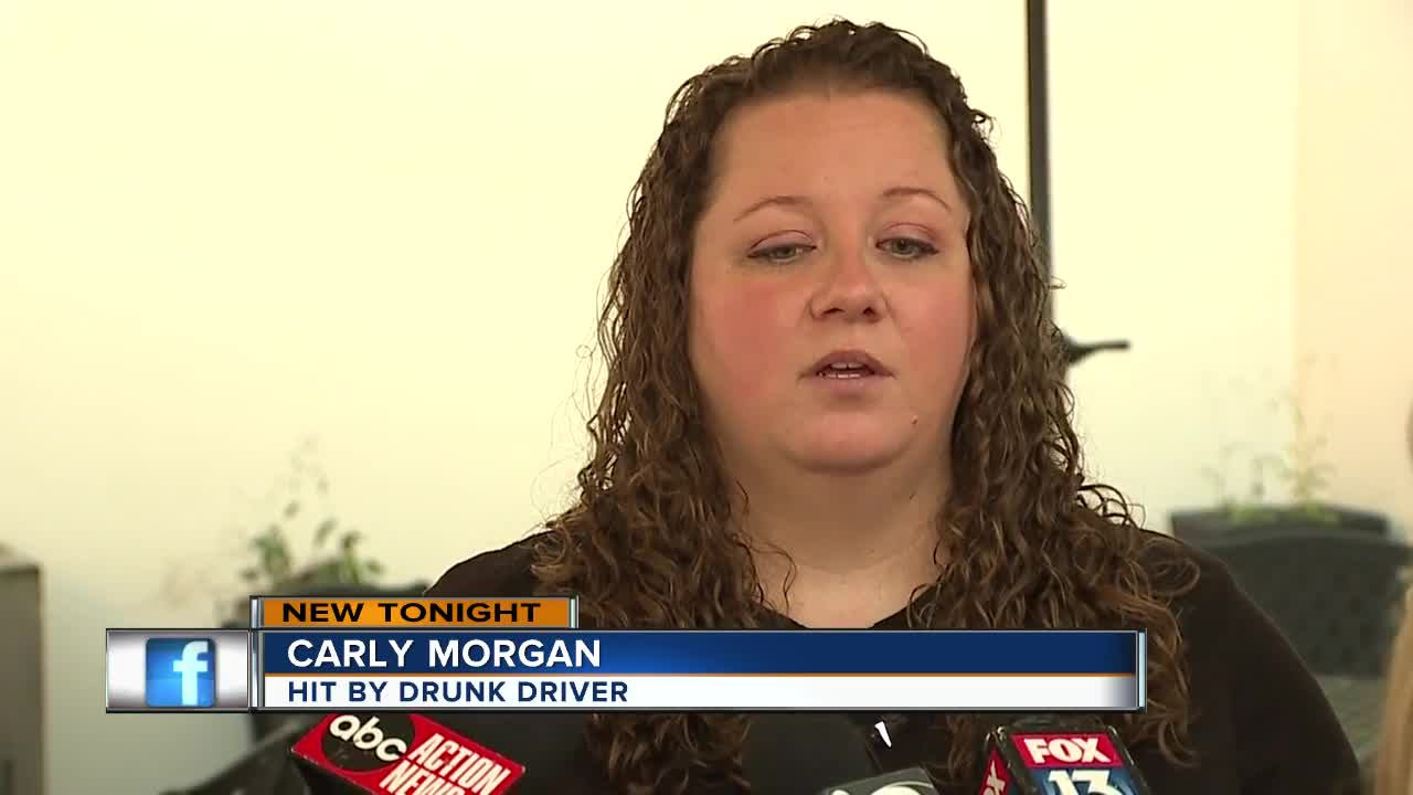 Woman hit by drunk driver thanks first responders who saved her life