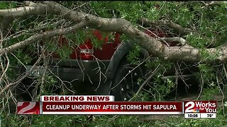 Cleanup underway in Sapulpa after storms hit