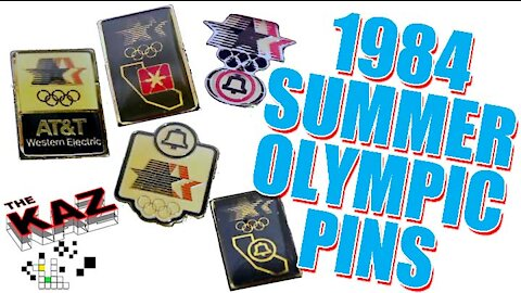 1984 Summer Olympic Games Telecommunications Pin Set