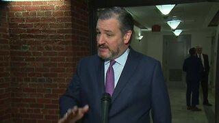 Senator Ted Cruz returns to Capitol Hill after self-quarantine