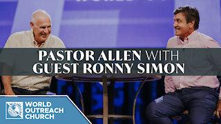 Pastor Allen with Guest Ronny Simon