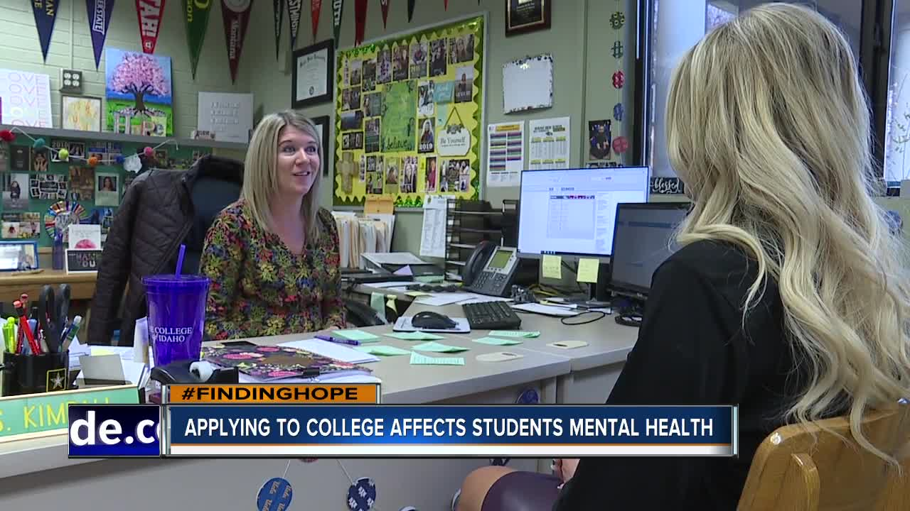 FINDING HOPE: Applying to college may affect high school students mental health