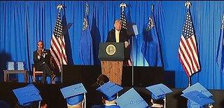 President Trump speaks to former prisoners at graduation ceremony in Las Vegas
