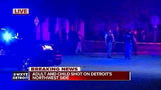 1 child, 1 adult shot on Detroit's northwest side