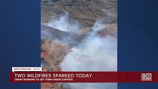 Firefighters battling multiple wildfires in Arizona