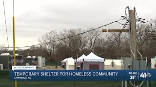 Lawrence 'tent city' provides people experiencing homelessness with safe camping