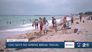 CDC says no spring break travel