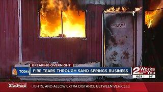 Fire tears through Sand Springs business