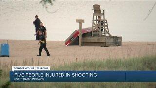 Five people injured in shooting at North Beach in Racine