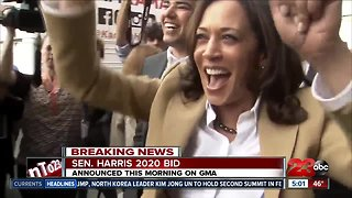 CA Sen. Kamala Harris announces run for president