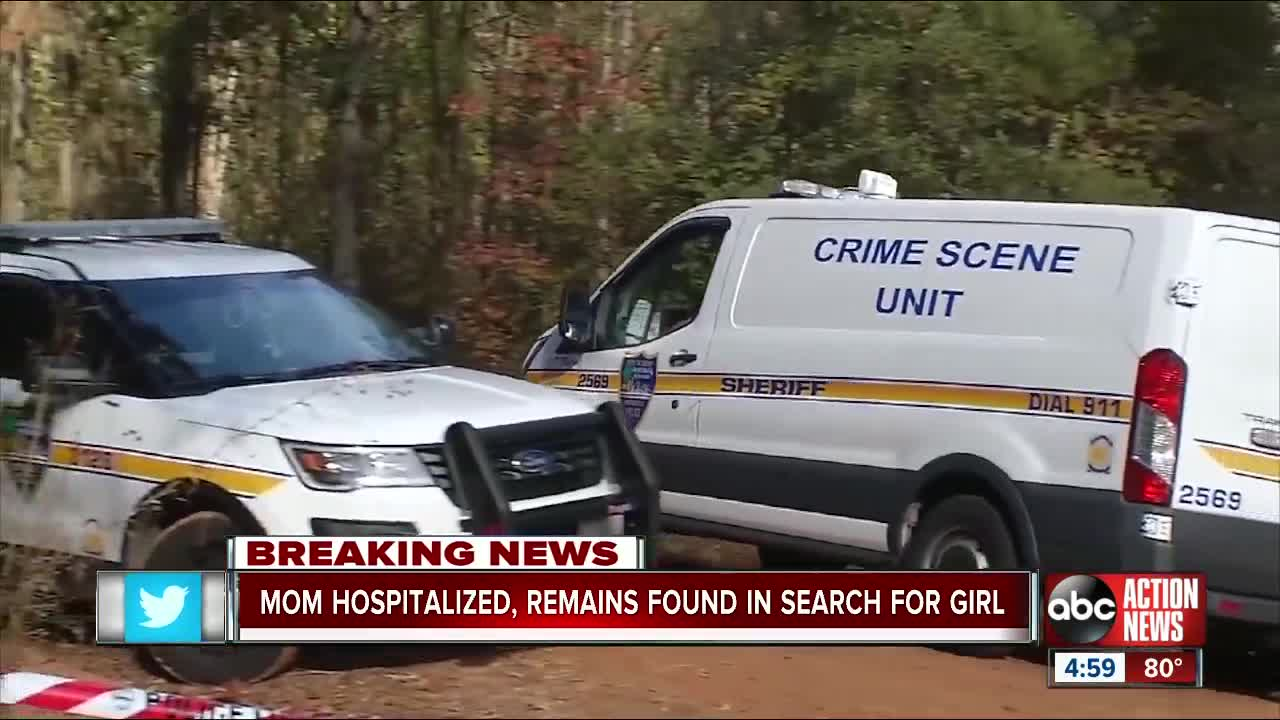 Human remains have been found in the search for Taylor Williams