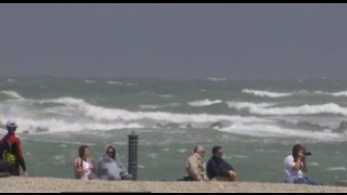 Strong winds bring rough surf and beach erosion