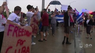 More rallies in support of protesters in Cuba