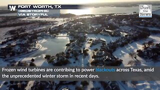 Frozen wind turbines contribute to power blackouts across Texas, at least 4 million without power