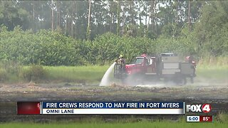 Firefighters respond to hay fire in Fort Myers