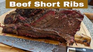 Beef Short Ribs, Pellet Smoker Grill