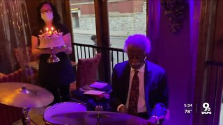 95-year-old drummer inspires future generations of jazz musicians