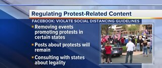 Facebook monitoring protest posts