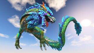 Minecraft Serpent Dragon Build
