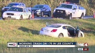 Vehicle crash on I-75 causes backup near Bonita Beach Road