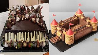 Fancy Square Chocolate Cake Decorating IDeas   So Yummy Birthday Cake   Best Tasty Cake Tutorials