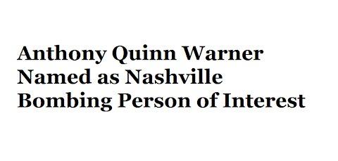 Nashville Bombing Person of Interest