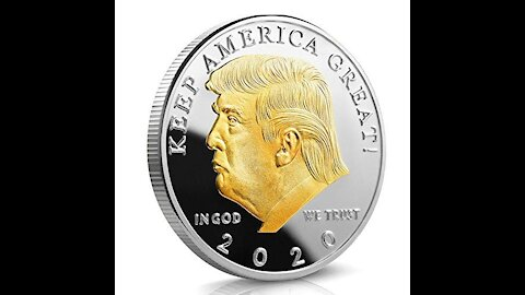 GOLD AND SILVER PLATED TRUMP COIN