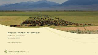 """When is """"Protein"""" NOT Protein (& other ruminations)"""