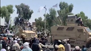Taliban Celebrate With U.S. Equipment In a Military Parade