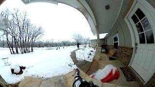 Snow Sledding Time Lapse