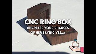 CNC Walnut Ring Box on a Shapeoko 3 XXL