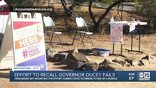 Effort to recall Governor Ducey fails