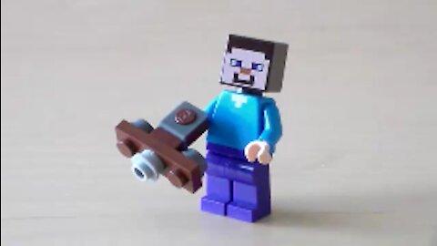 Lego Minecraft Crossbow Tutorial