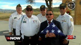 Veterans honoring unaccompanied veterans