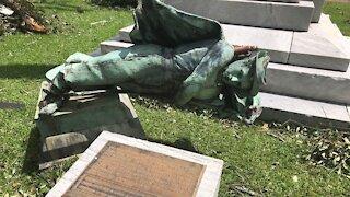 Hurricane Laura Topples Confederate Statue In Louisiana