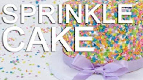 How-To Make A Rainbow FUNFETTI Sprinkle CAKE