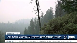 National forests reopening
