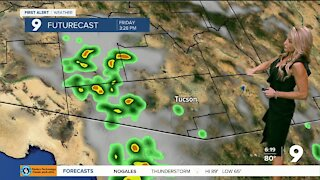 Isolated storm chances heading into the weekend