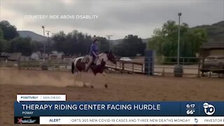 Equestrian therapy center for disabled faces hurdle amid ongoing pandemic